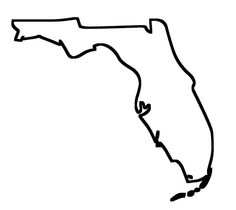 Blank map of Florida. Find this map and the other 49