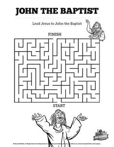 Free Bible word search puzzle John the Baptist. Mystery of