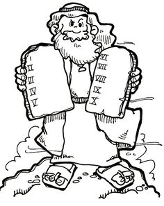God Speaks to Moses Bible coloring page for Kids to Learn
