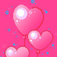 balloon graphics pink glitter