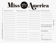 Ready to watch the #MissAmerica #pageant? Keep up with the