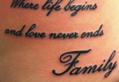 Family Tattoo Ideas Sayings Ndebon