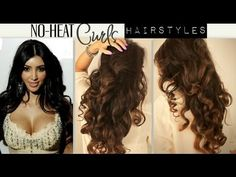 ★EASY TWIST CROSSED HAIRSTYLES HALF UP PONYTAIL UPDO WITH CURLS