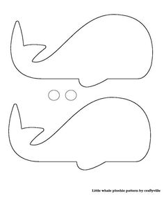 Killer whale pattern. Use the printable outline for crafts