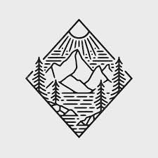 simple drawings drawing mountain mountains sketch sketches delta