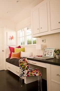 home office window bench 1000+ images about Hallway Home Office on Pinterest | Office Cabinets, Home Office and Window