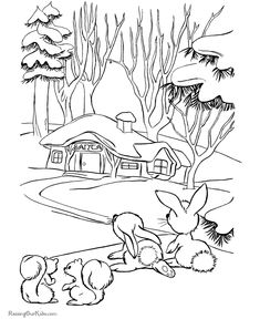 1000+ images about Christmas and Winter Coloring Pages on