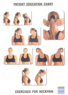 Neck exercises Neck pain and Exercise on Pinterest
