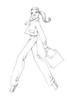 dibujos de Lara Croft para colorear y pintar de tomb
