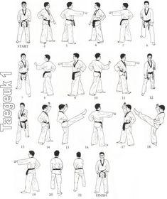WTF Form Koryo 1st Dan / Poom Black Belt form. Working on
