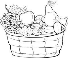 1000+ images about Fruit Kleurplaten on Pinterest