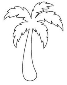 Palm Tree Pumpkin Stencil, Palm, Free Engine Image For