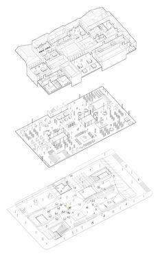 1000+ images about sectional + axonometric drawings on