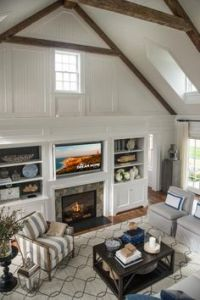 Vaulted ceilings, Ceilings and Fireplaces on Pinterest
