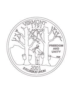 Vermont Coloring Page– Learn quick facts with a fun