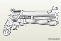 Full Size MAC-10 Machine Pistol Paper Model Free Template