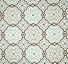 Coral Stripe Fabric Designer Cotton Coastal Fabric Drapery Fabric
