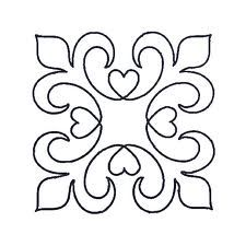 Fleur de lis pattern. Use the printable outline for crafts