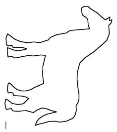 Cowboy boot pattern. Use the printable outline for crafts