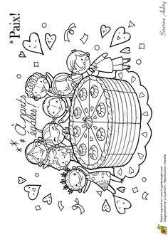 Coloriage sur le thème de la paix, le mandala de l'amour
