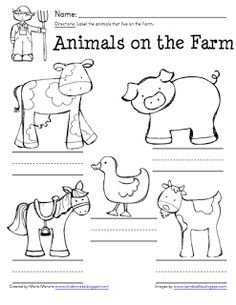 May use these farm animal Old MacDonald stick puppet