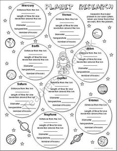 Fifth Grade Earth & Space Science Worksheets: Solar System