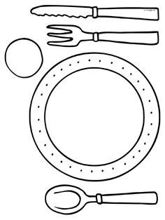 Kleurplaat eten en drinken aan tafel #kleurplaat #aan