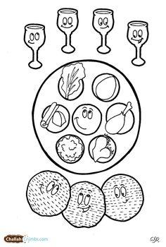 Jewish Seder Plate cut and stick activity (SB3278