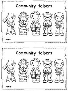 {Printable} 24 Pages of Community helper coloring pages