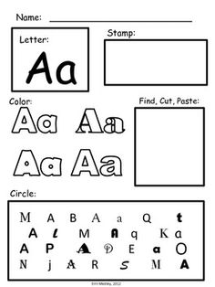 Our free alphabet worksheets teach preschoolers how to