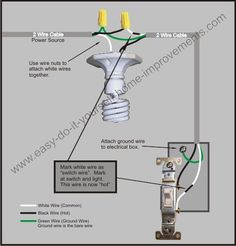2way Switch with Lights Wiring Diagram | Electrical