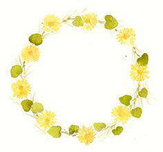 vintage floral wreath clipart
