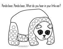 Preschool Printables: Panda Bear Printable (Panda Bear