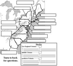 WISE GUYS TEACHING RESOURCES: The 13 American Colonies Map