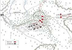 Map of the Battle of Germantown 4th October 1777 by John