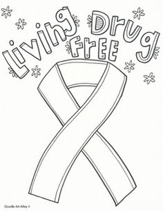 Red Ribbon week in a drug and violence prevention