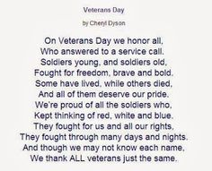 Thank you poems, Veterans day thank you and Veterans day