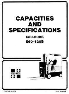 Hyster Forklift C005: H100C, H120C, H60C, H70C, H80C