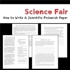 Science Fair Research Paper Help