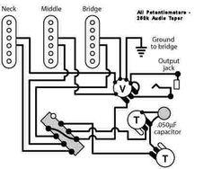 Guitar Wiring Diagram 2 Humbuckers/3-Way Lever Switch/2