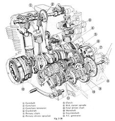 dkw rt250 engine cutaway exploded view of dkw rt250 engine