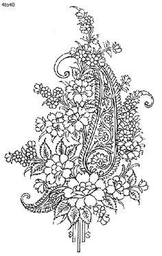 Indian Motifs Textile Pattern, Pure Silk, Indian Motifs