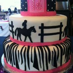 Barrel Racing Girl Birthday Cake Cakes Pinterest