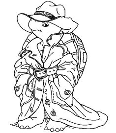 Pink Panther and detective coloring pages for kids
