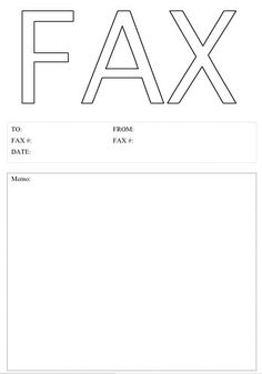This printable fax cover sheet shows a large pushpin on a
