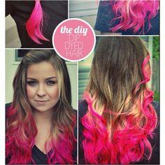 Diy Dip Dyed Hair