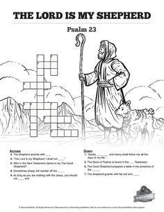 Coloring Pages for Kids by Mr. Adron: Printable Psalm 23:1