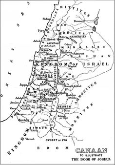 A map of Palestine detailing the modern day borders of the