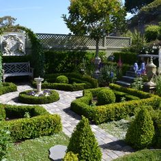 Formal Garden Small Ponds Google Search Garden Ideas