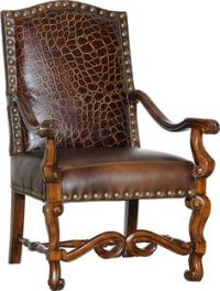 Mayo Furniture 5790LF Leather/Fabric Chair and Ottoman ...